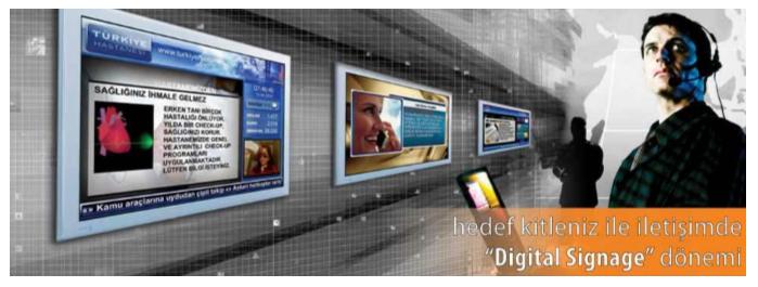 Hedef kitlenizle iletişinizde digital signage