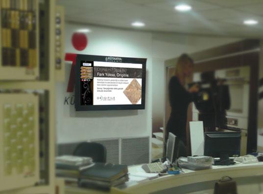Kütahya Seramik Alternatif Medya ile dijital katalog uygulamasını dokunmatik ekranlarda devreye aldı