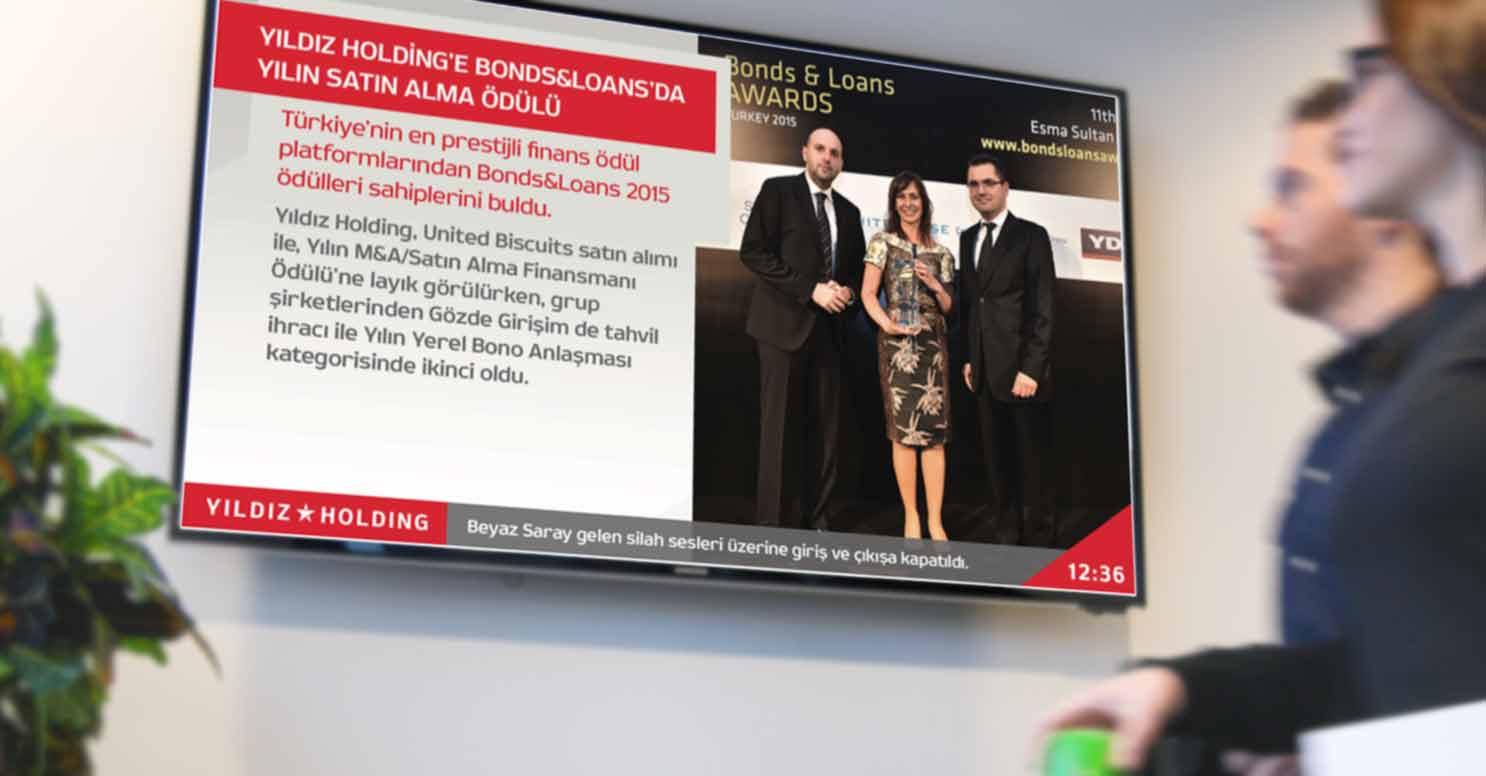 Kurumlarda ve Şirketlerde İç İletişim de Digital Signage TV Yayınlarının Kullanımı